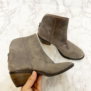 Lucky Brand Distressed Leather Booties 5.5